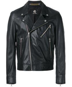 Paul Smith London | Multi-Pocket Biker Jacket Mens Size Small Viscose/Leather