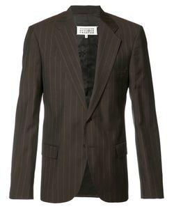 Maison Margiela | Pinstripe Blazer Mens Size 48 Pashmina/Triacetate
