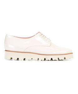 Pretty Loafers   Lace-Up Brogues Womens Size 37 Leather/Patent Leather/Rubber