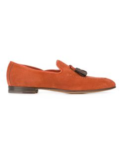 Santoni | Classic Tassel Loafers Mens Size 7.5 Leather/Suede