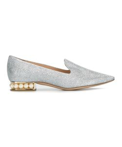 Nicholas Kirkwood   Casati Pearl Loafers Womens Size 36 Polyester/Leather