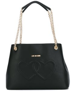 Love Moschino   Embossed Hearts Shoulder Bag Womens Polyurethane