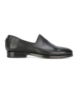 Measponte   Zip-Back Loafers Womens Size 37.5 Calf Leather/Leather/Rubber