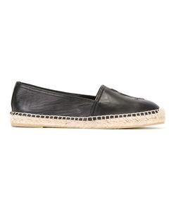 Saint Laurent | Monogram Espadrilles Womens Size 36.5 Calf Leather/Leather/Rubber