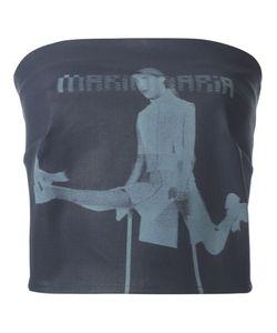 Maria Ke Fisherman   Strapless Denim Top