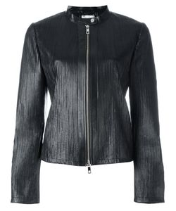 Desa Collection | Ribbed Detail Zip Up Jacket Womens Size 40