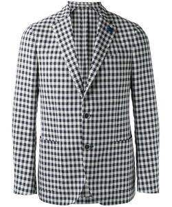 Lardini | Single-Breasted Blazer Mens Size 50 Cotton/Polyester/Linen/Flax