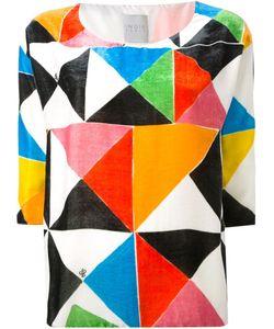 Ingie Paris   Geometric Print Velvet Top