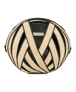 Perrin Paris | Round Shoulder Bag Womens Straw/Leather