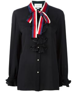 Gucci | Tied Neck Ruffled Shirt Womens Size 46 Silk/Polyester
