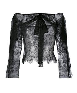 Philosophy di Lorenzo Serafini | Lace Off-Shoulder Bow Blouse Womens Size 40