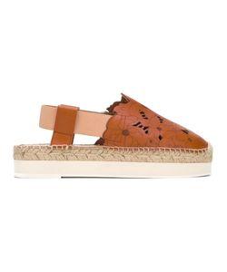 Twin-Set | Sling-Back Platform Sandals Womens Size 35 Leather/Rubber/Rubber