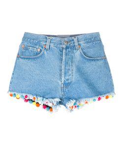 Forte Forte | Pom-Pom Trim Denim Shorts Womens Size 26 Cotton