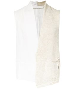 Isabel Benenato | Half Knitted Gilet Mens Size 48 Linen/Flax