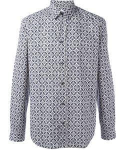 Maison Margiela | Print Long-Sleeve Shirt Mens Size 43 Cotton