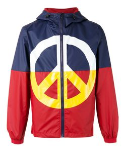 Love Moschino   Peace Sign Jacket Mens Size 46 Polyester/Polyamide