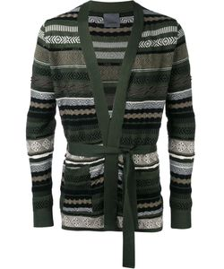 Laneus | Belted Cardigan Mens Size 46 Cotton