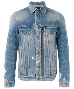 R13 | Zipped Front Denim Jacket Mens Size Small Cotton/Spandex/Elastane
