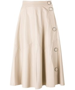 Drome | A-Line Leather Skirt Womens Size Medium Leather/Cupro