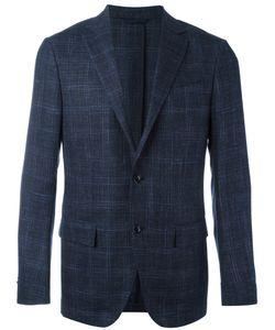 Ermenegildo Zegna | Checked Blazer Mens Size 46 Silk/Wool/Linen/Flax/Cupro