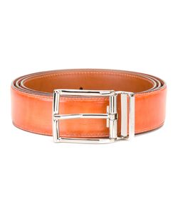 Santoni | Rectangular Bluckle Belt Mens Size 110 Calf Leather