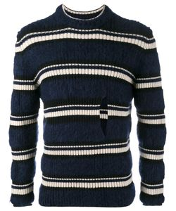Helen Lawrence | Striped Split Jumper Mens Size Small Polyamide/Mohair/Wool/Lambs Wool