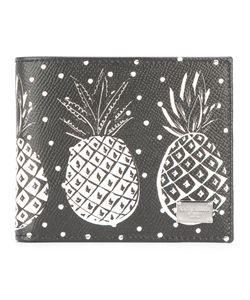 Dolce & Gabbana   Pineapple Print Billfold Wallet Mens Calf Leather