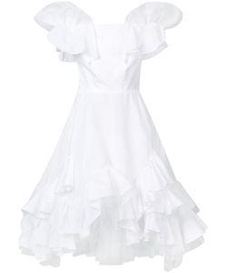 Natasha Zinko   Ruffled Dress Womens Size 36 Cotton/Polyester