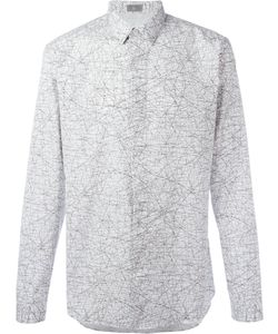 Dior Homme | Tangled Lines Print Shirt Mens Size 42 Cotton