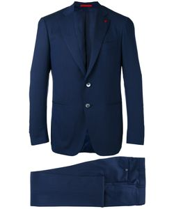 Isaia | Formal Suit Mens Size 54 Wool/Spandex/Elastane/Cupro