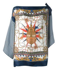 P.A.R.O.S.H. | Navy Print Blouse Womens Silk