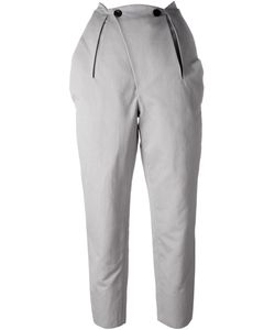 And Re Walker | Button Detail Pleated Cropped Trousers