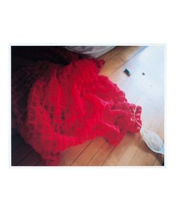 House Of Voltaire   Simone Rocha Kim Gordon Flung Red Brushed
