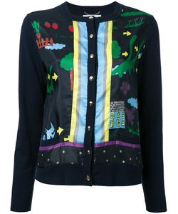 Muveil   Printed Cardigan Size 40 Cotton/Wool/Polyester