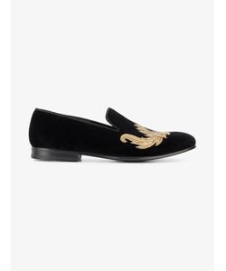 Alexander McQueen | Embroide Loafers Mens Size 41 Velvet/Metal/Leather