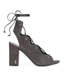 Saint Laurent | Ghillie Sandals Womens Size 37.5 Calf Suede/Leather