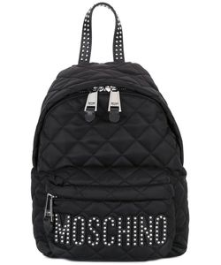 Moschino   Quilted Logo Backpack Leather/Polyester/Metal