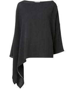 Dusan   Asymmetric Poncho Top Linen/Flax