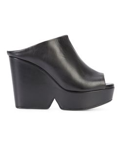 Robert Clergerie | Peep-Toe Mules Womens Size 7 Leather