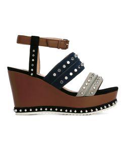 Steffen Schraut   Studded Platform Sandals Womens Size 40 Leather/Foam Rubber/Metal