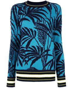 Antonia Zander | Palm Trees Jumper Womens Size Small Cashmere