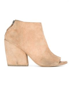 Marsèll | Open Toe Ankle Boots Womens Size 37 Suede/Leather