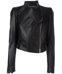Ann Demeulemeester Blanche   Zipped Biker Jacket Womens Size 38 Leather/Cotton/Viscose