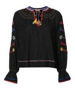 Ulla Johnson | Embroide Blouse Womens Size 8 Silk