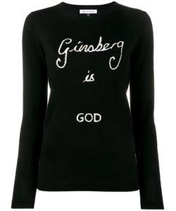 Bella Freud   Ginsberg Is God Sweater Womens Size Large Wool