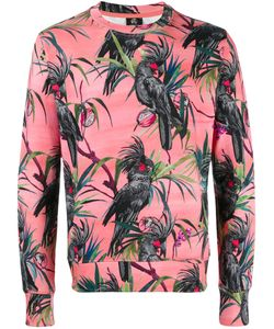 Paul Smith Jeans | Parrot Print Sweatshirt Mens Size Medium Cotton