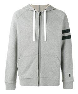 Lanvin | Striped Sleeve Zip Hoodie Mens Size Xl Cotton/Spandex/Elastane/Polyester