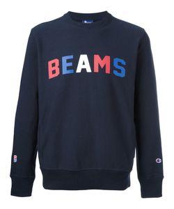 Champion | Beams Print Sweatshirt Mens Size Small Cotton/Polyester