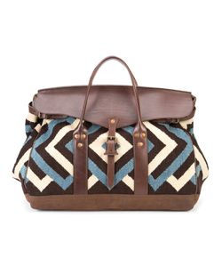 Rrl   Zig-Zag Pattern Holdall Leather/Wool