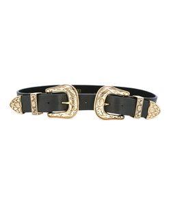 B-Low the Belt | Double Buckle Belt Womens Size Medium Leather